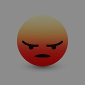 3D Vector Angry Emoticon Icon Design for Social Network Isolated on White Background. Modern Emoji