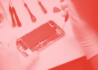 Phone  smartphone repair .Technician repair faulty mobile phone in electronic smart phone technology service.