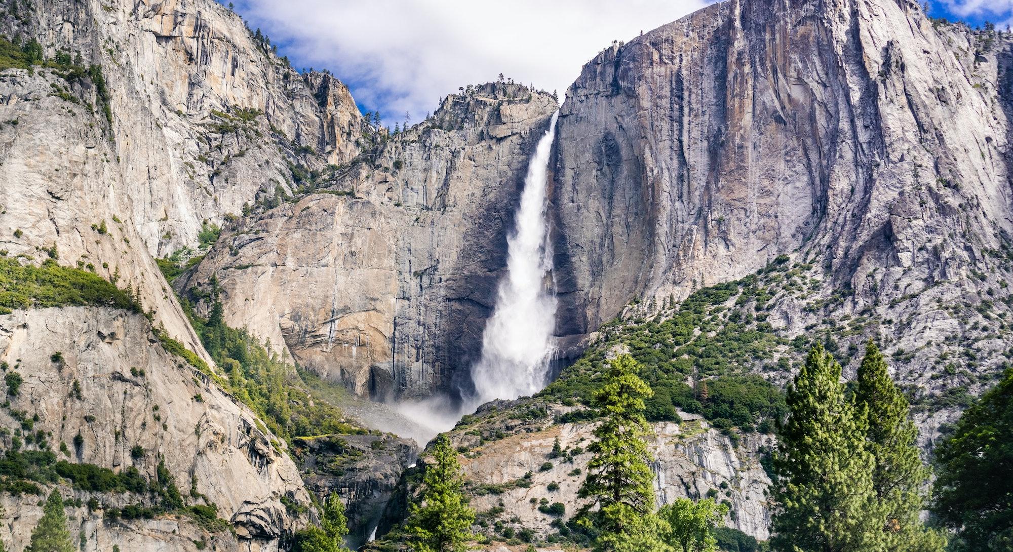 Upper Yosemite Falls as seen from Yosemite Valley, Yosemite National Park, California