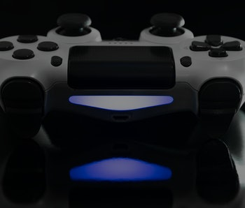 White Game controller in close view
