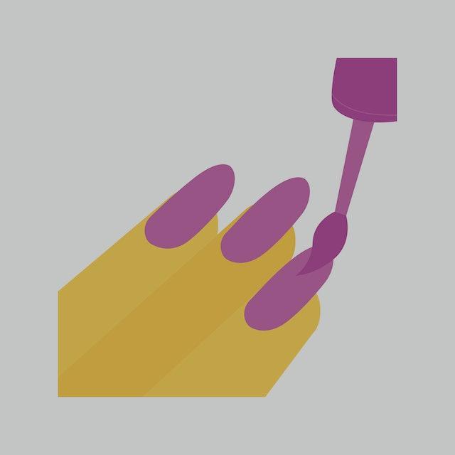 Nailpolish emoji vector illustration flat design purple