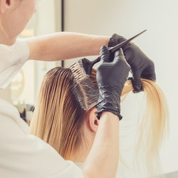 Dyeing your hair from blonde to brown is possible, but there are a lot of steps.