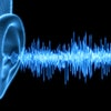 Human Ear - Wireframe Illustration with Soundwaves - 3D illustration