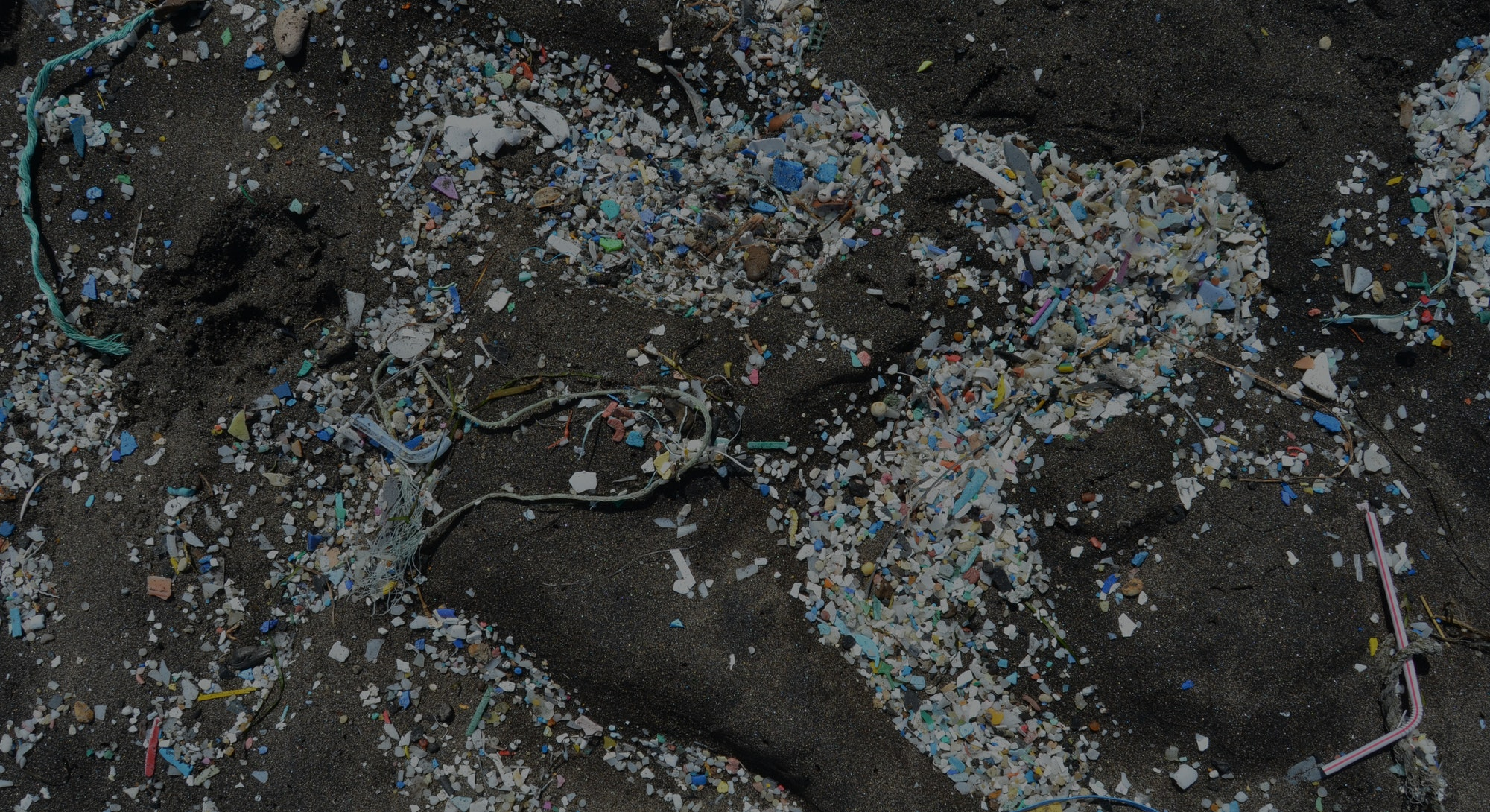 plastics and microplastics in sand on beaches and coasts of the Canary Islands