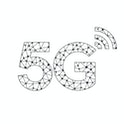 Vector technology icon network sign 5G. Image wireless 5g sign blue color.  Illustration 5g internet...