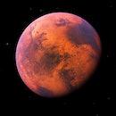 Mars planet 3d rendering black background super high resolution science illustration