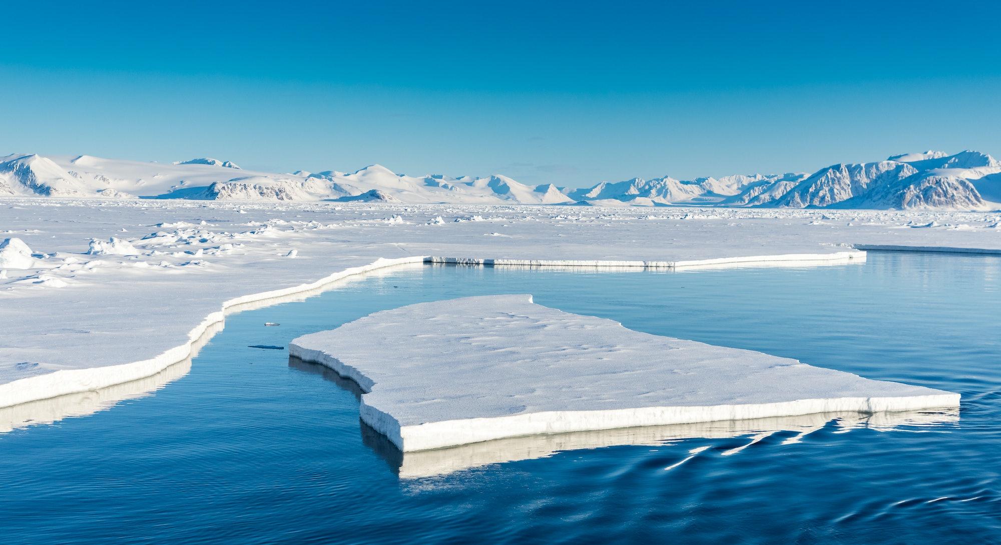 Arctic summer landscapes in Svalbard.
