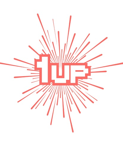 1up retro video game message design