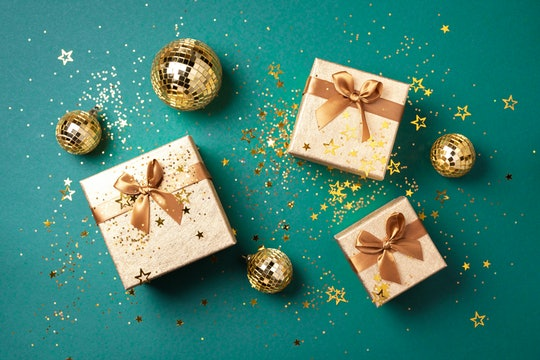 green and gold christmas gifts