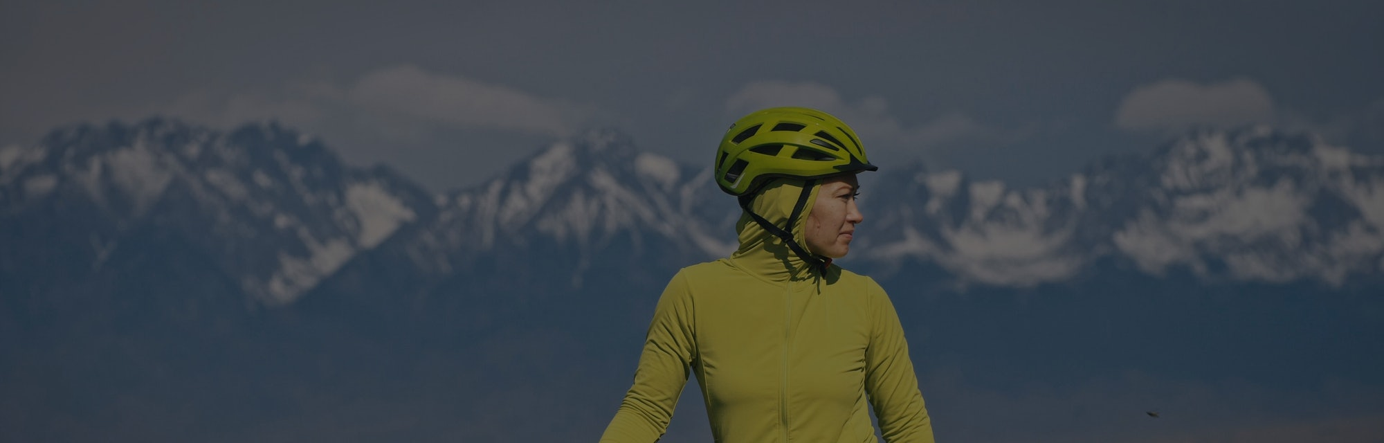 The woman travel on mixed terrain cycle touring with bikepacking. The traveler journey with bicycle ...