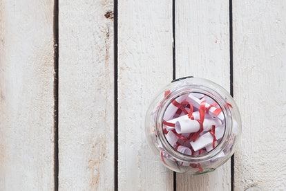 Long distance couples on Valentine's Day can send each other jars filled with reasons why they love one another.
