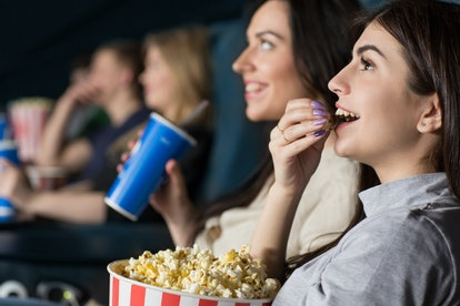 Couples in long distance relationships on Valentine's Day can go see the same movie at the same time...