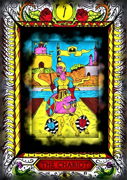Customized  Tarot Card. The chariot. Hand drawn. All of the cards available!
