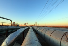 Petroleum transmission pipeline, closeup of photo