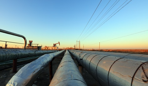 Petroleum transmission pipeline, closeup of photo