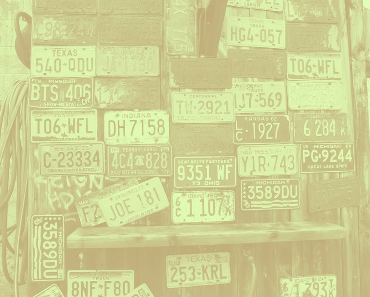 License plates from all over the country