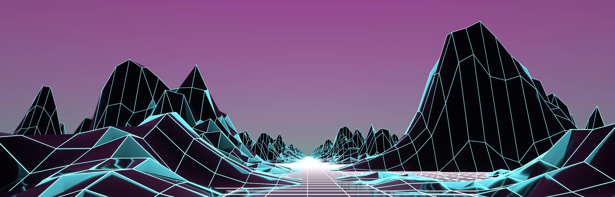 Retro Futurism Background 1980s style. 3d illustration.