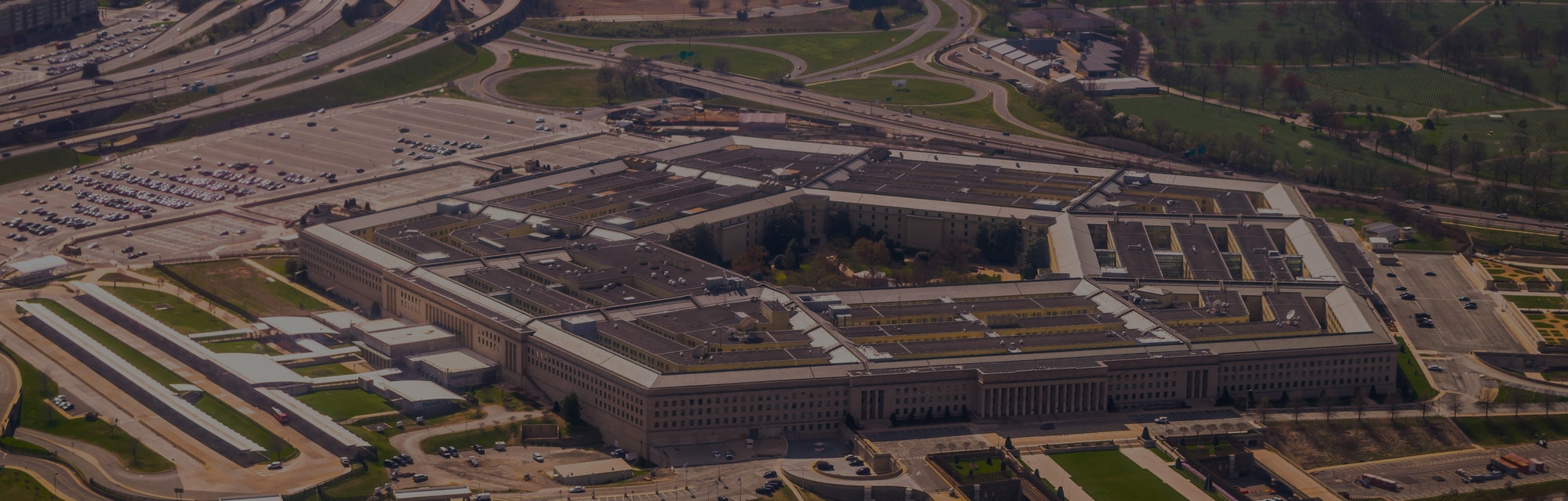 The Pentagon from above in Washington, DC