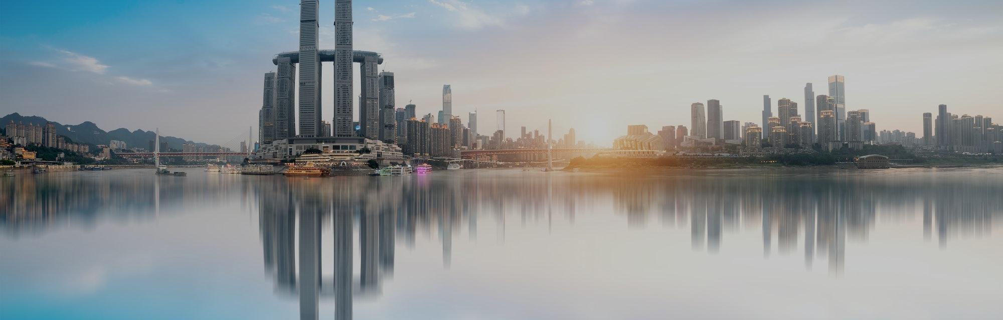 Modern metropolis skyline, Chongqing, China,
