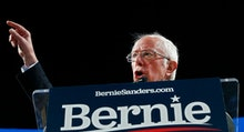 Democratic presidential candidate Senator Bernie Sanders speaks at a rally inside the University of ...