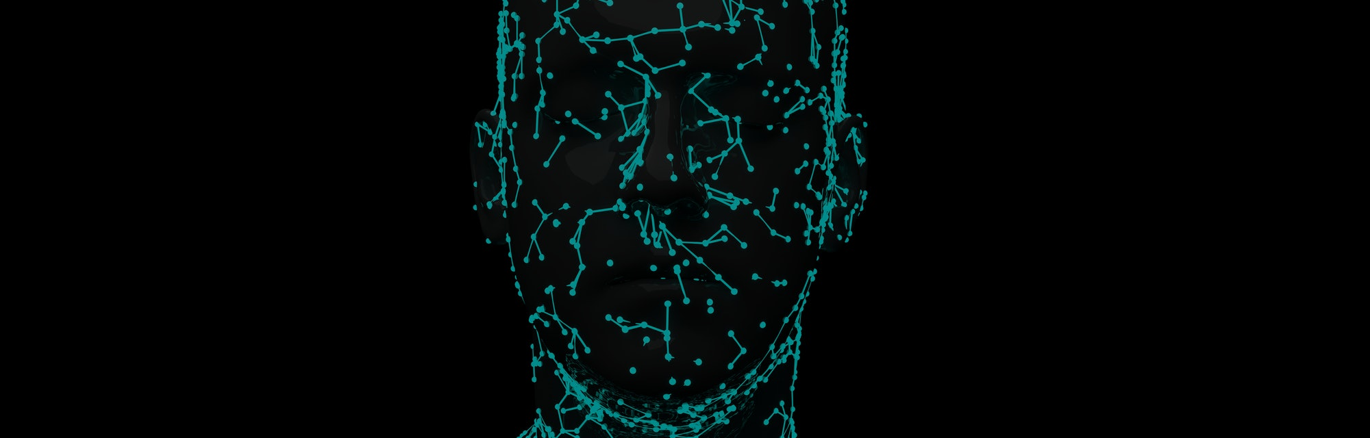 Facial Recognition System 3d illustration