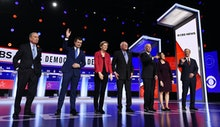 Michael Bloomberg, Pete Buttigieg, Elizabeth Warren, Bernie Sanders, Joe Biden, Amy Klobuchar and To...