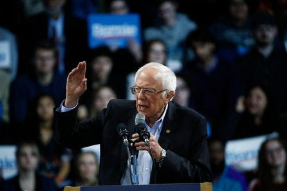 Democratic presidential candidate Sen. Bernie Sanders, I-Vt., speaks during a campaign event, in Spa...