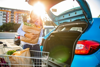 Shopping in the grocery store helps you save on delivery fees.