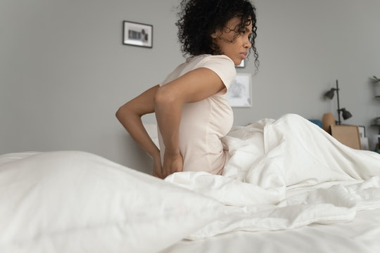 If your back is hurting during a certain point of your cycle, it could be ovulation.