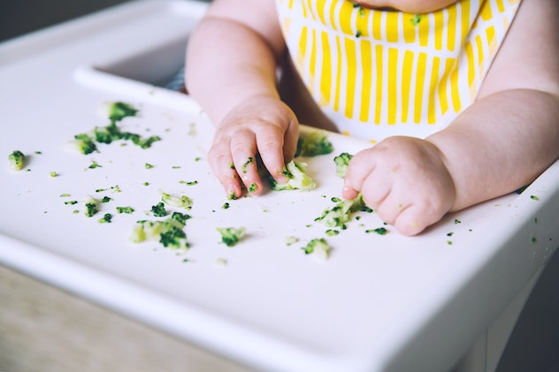 Experts recommend disinfecting baby high chair trays daily.