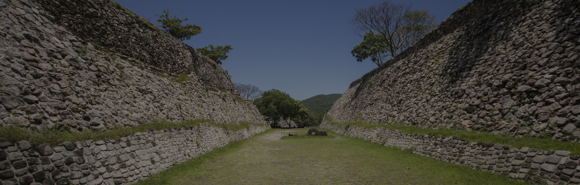 Ball game in the archaeological zone of Xochicalco