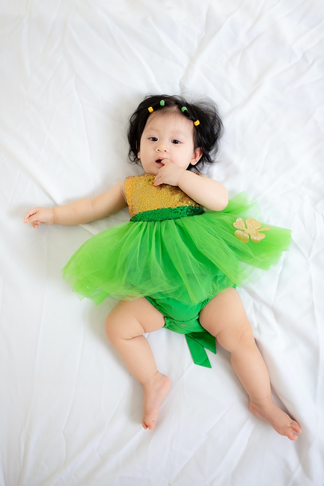 Babies born on St. Patrick's Day are said to have lots of luck, according to old wives tales.