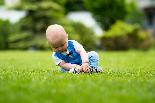 baby boy on the grass