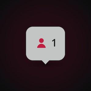 Template user symbol, icon. Follower notification. Social media concept. Vector illustration. EPS 10