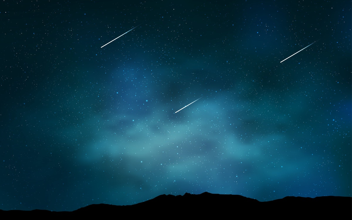 Light BLUE vector pattern with night sky stars. Blurred decorative design in simple style with galax...