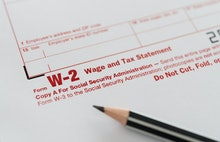 Tax forms, form W-2 wage and tax statement