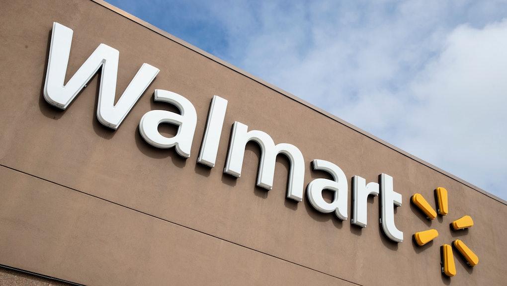 Shown is a Walmart in Warrington, Pa
