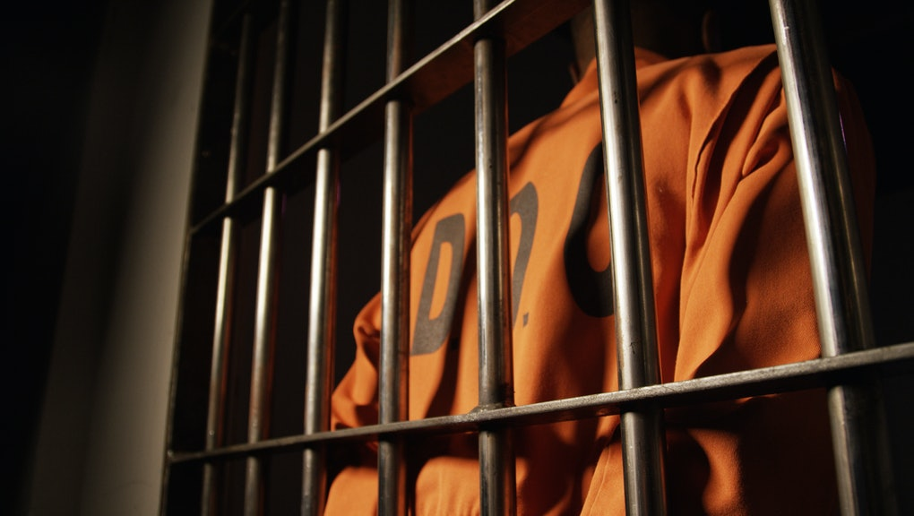 African American Man in Prison - Department of Corrections Jump Suit