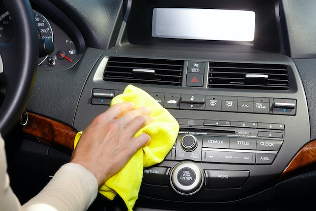 Don't forget to clean all the buttons in your car that you touch — coronavirus can live there too.