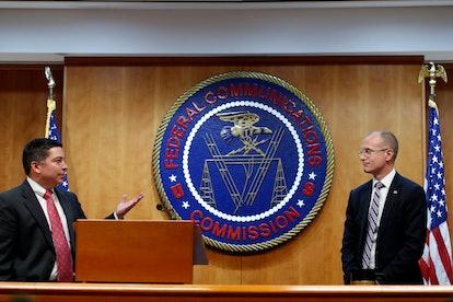 Brendan Carr, Michael O'Rielly. Federal Communications Commission (FCC) Commissioners Michael O'Riel...