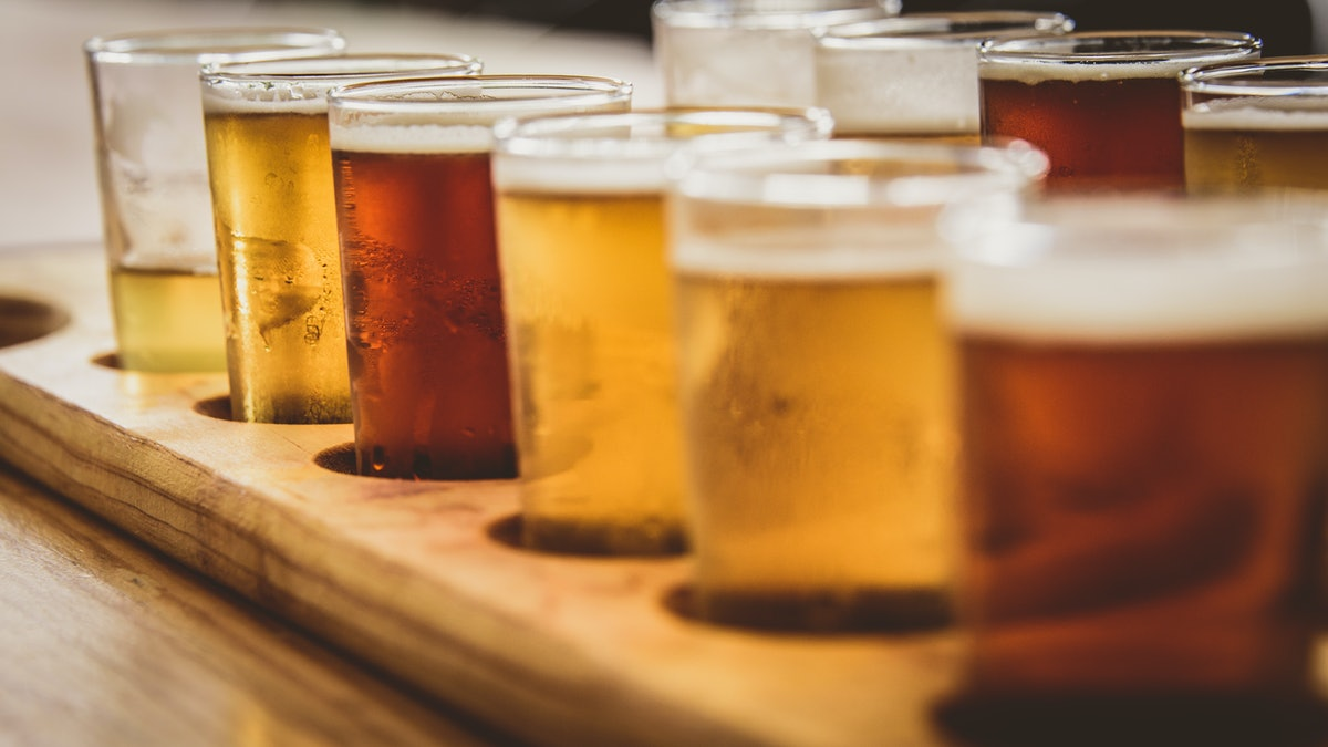 To make an at-home beer flight, you'll generally want to go from light to dark.