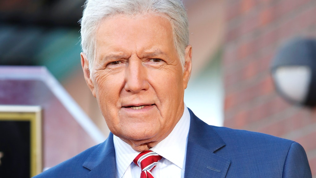 US game show host Alex Trebek attends a ceremony honoring US game show producer Harry Friedman (unseen) with a star on the Hollywood Walk of Fame, in Los Angeles, California, USA, 01 November 2019. Friedman received the 2680th star on the Hollywood Walk of Fame, dedicated in the category of Television.
