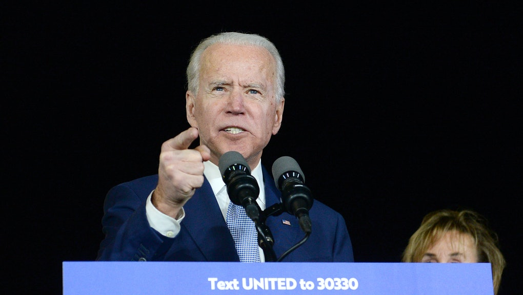 Joe Biden at a Super Tuesday Presidential Campaign Rally