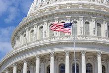 US National Capitol in Washington, DC. American landmark.