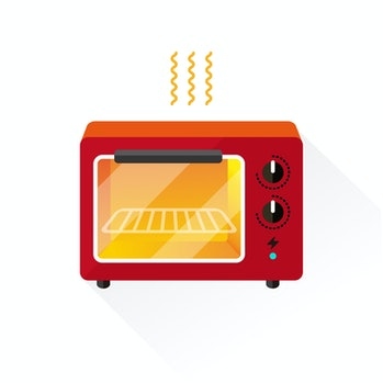 vector electronic oven / toaster oven / flat, isolated, sign and icon template