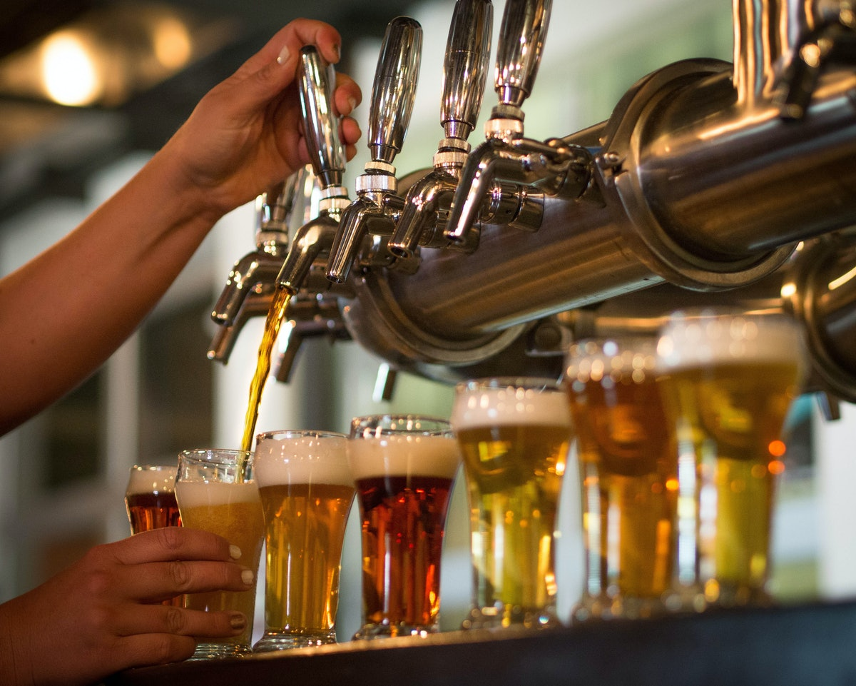To make an at-home beer flight, you'll want to take the ideal temperature of the different brews into consideration.