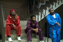 Lakeith Stanfield as Darius, Donald Glover as Earnest Marks and Brian Tyree Henry as Alfred Miles
