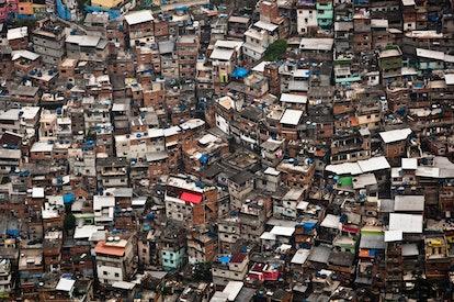 Favela da Rocinha, the Biggest Slum (Shanty Town) in Latin America. Located in Rio de Janeiro, Brazi...