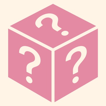 Mystery box or random loot box flat vector icon for games and apps