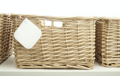 Storing loose pantry items in baskets will help keep your cabinet organized.